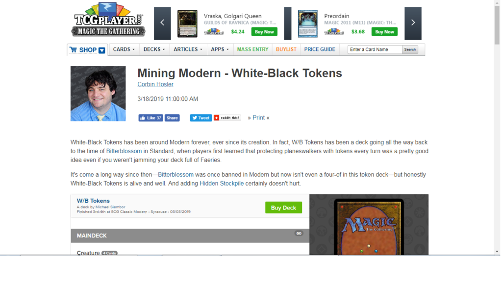 BWTokens4Life – A Modern BW Tokens Blog by Michael Siembor